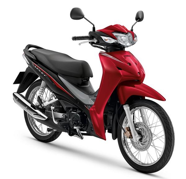 Wave110i 2020 สีแดง-เทา