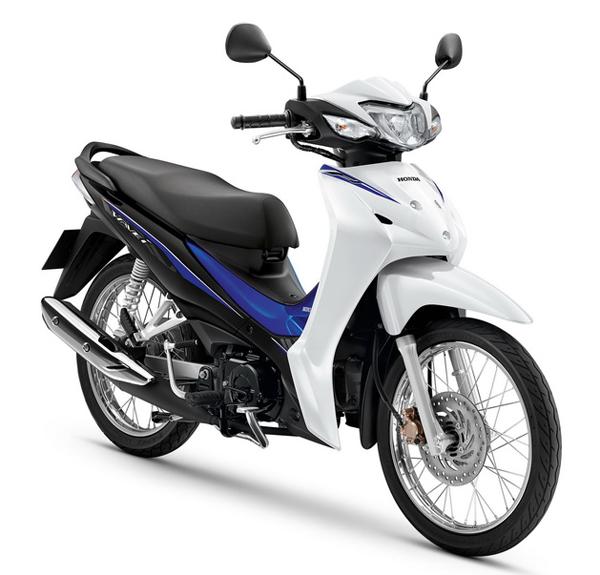 Wave110i 2020 สีขาว-น้ำเงิน
