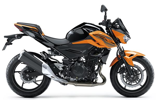 Kawasaki Z400 2020 สีส้ม