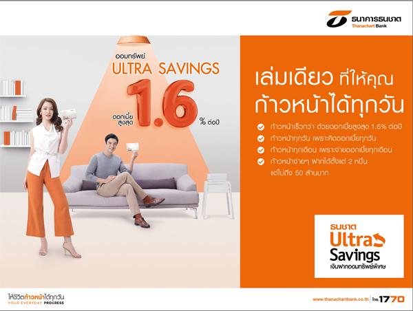 บัญชี Ultra Savings , เงินฝากUltra Savings