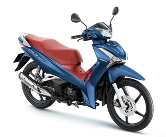 Wave125i 2020 สีน้ำเงิน-แดง