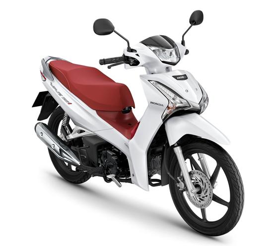 Wave125i 2020 สีขาว-แดง