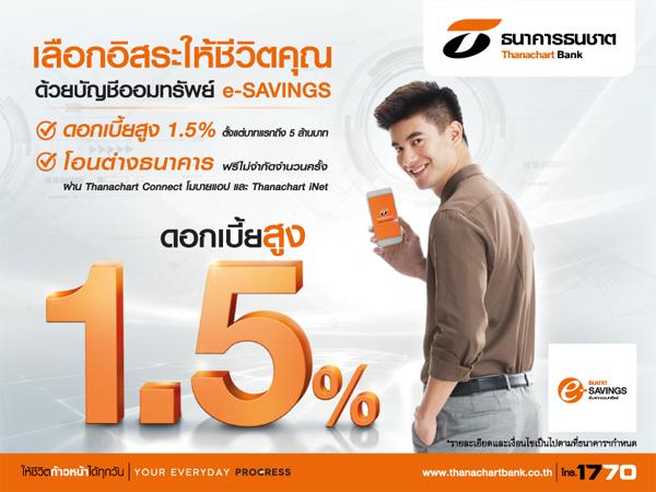 บัญชีเงินฝากออมทรัพย์ ธนชาต e-SAVINGS
