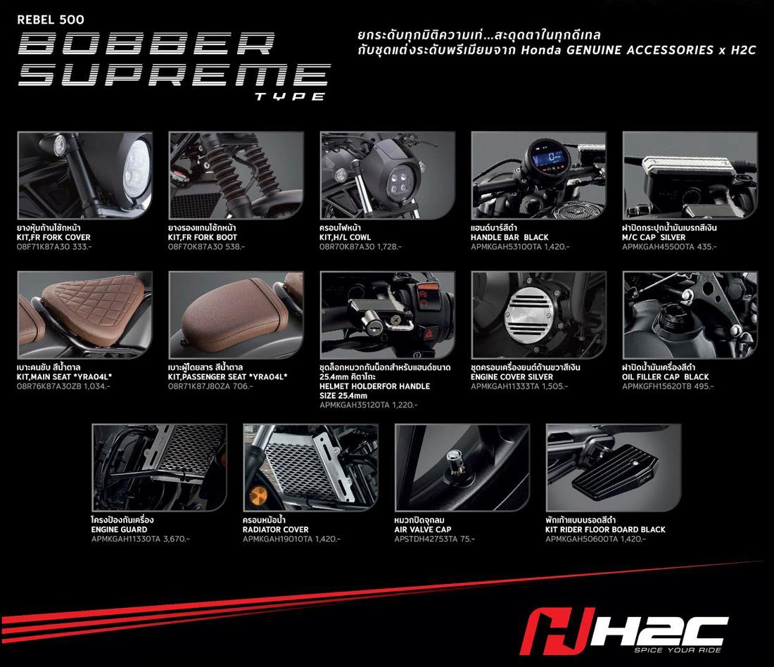 2020 Honda Rebel 500 H2C Sets
