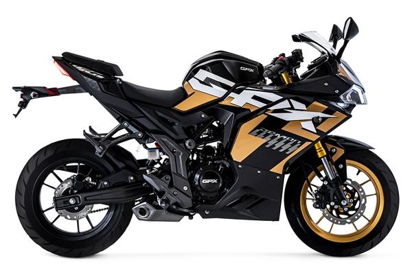 Demon 150 GR FI สีดำ-ทอง