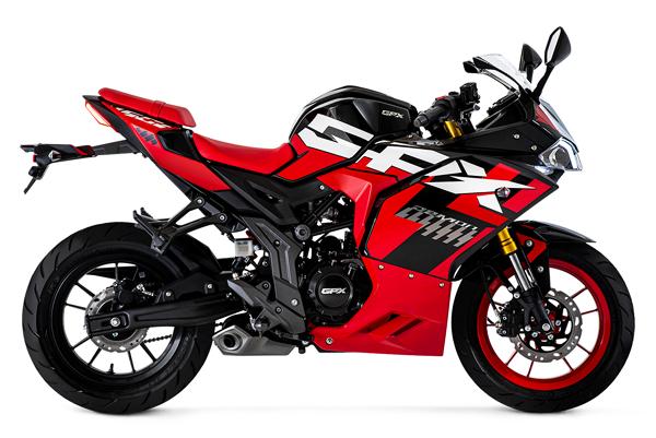Demon 150 GR FI สีแดง-ดำ