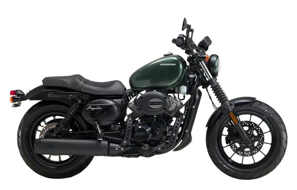 Hyosung Aquila GV300 สีเขียว