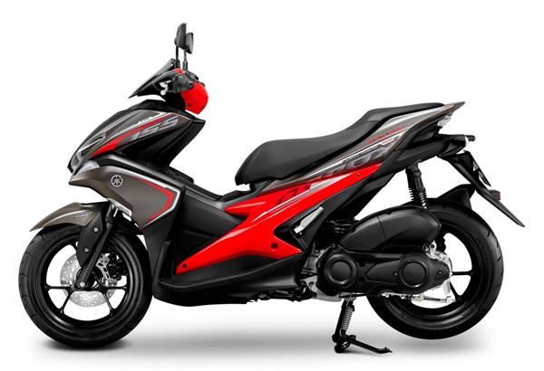 Aerox 155 รุ่น ABS สีเทา-แดง