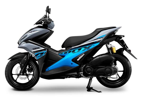 Aerox 155 R Version 2020 สีเทา-ฟ้า