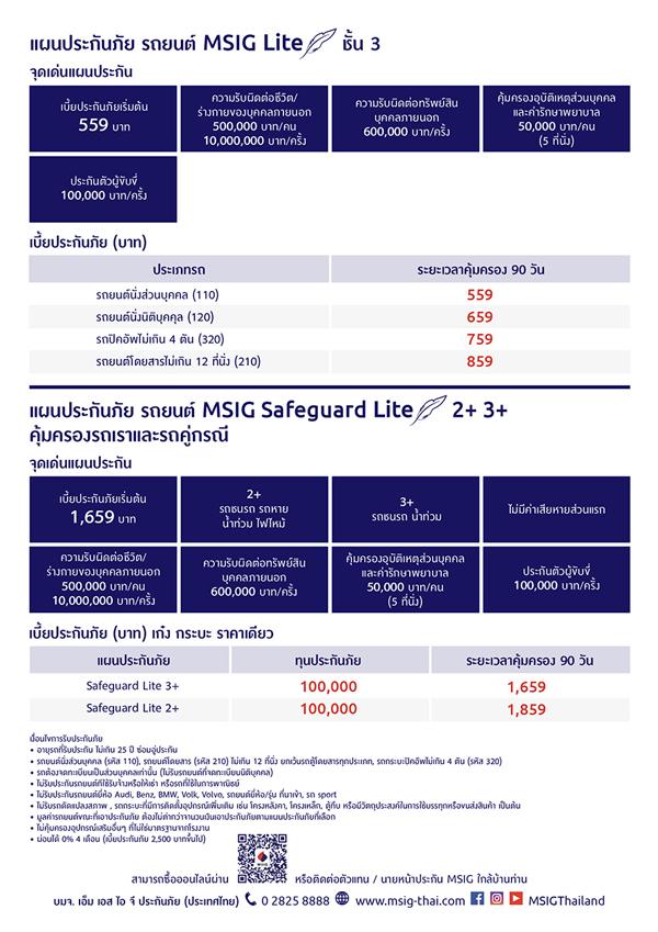 MSIG Motor Lite, Car  Insurance