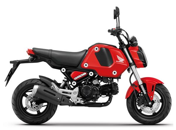 Honda GROM สีแดง