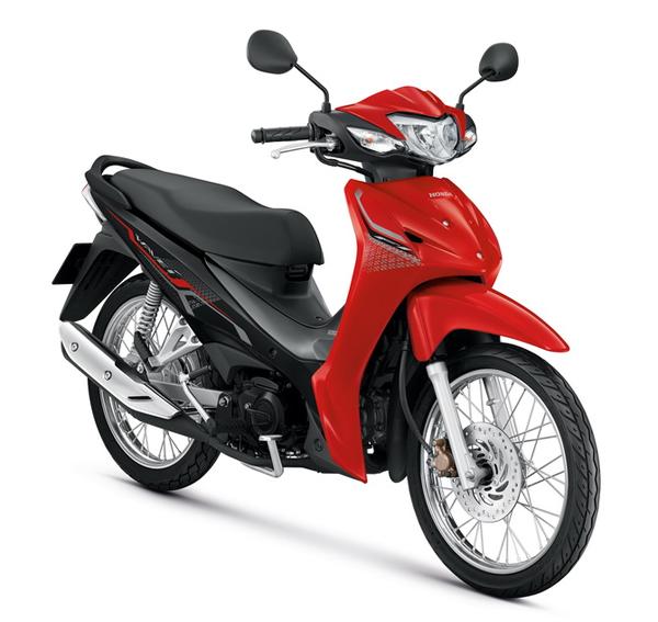 Honda Wave110i 2021 สีแดง-เทา