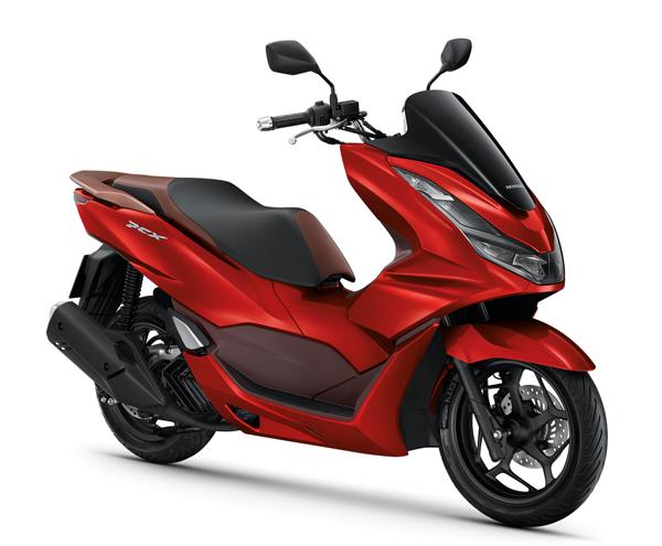 Honda PCX160 รุ่น ABS 2021 สีแดง-น้ำตาล