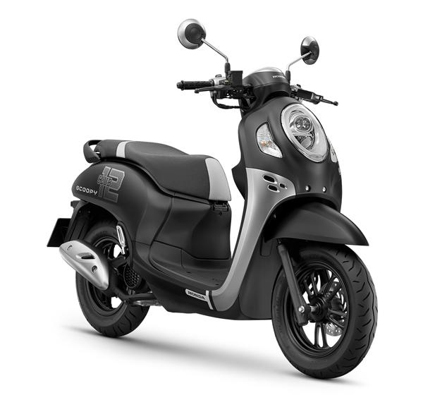 Honda Scoopy Club 12 2021 สีดำ-เทา