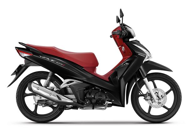 Wave125i 2021 สีดำ-แดง