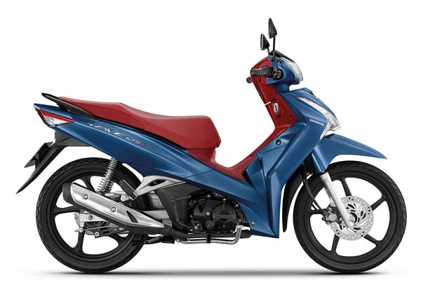 Wave125i 2021 สีน้ำเงิน-แดง