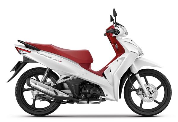 Wave125i 2021 สีขาว-แดง