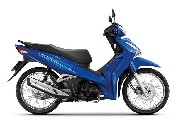 Wave125i 2021 สีน้ำเงิน-ดำ