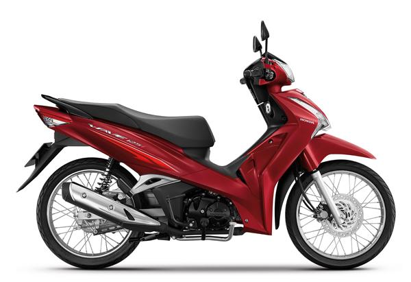 Wave125i 2021 สีแดง-ดำ