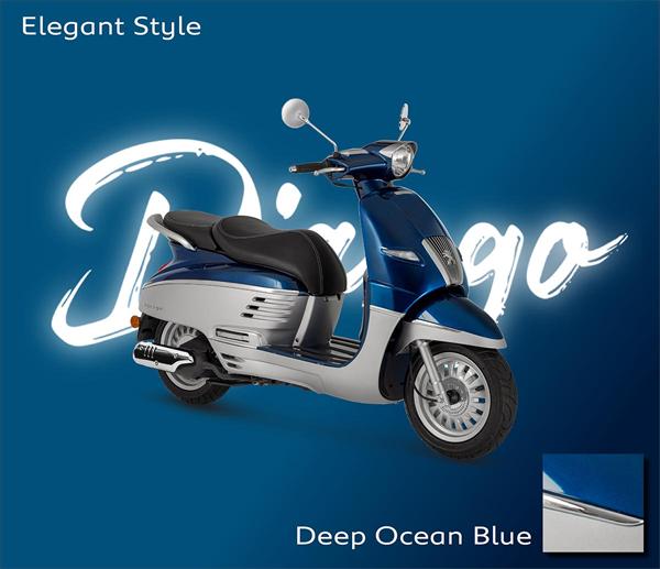 Peugeot Django 2021 สีน้ำเงิน