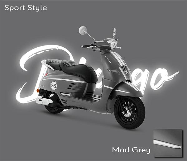 Peugeot Django 2021 สีเทา