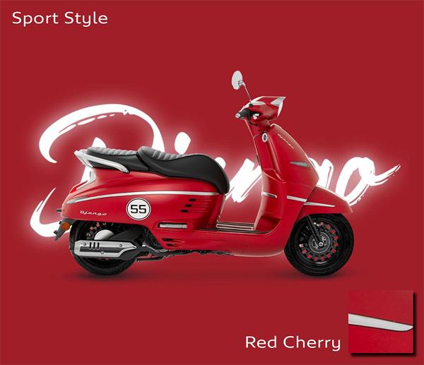 Peugeot Django 2021 สีแดง