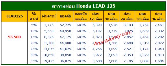 Honda LEAD 125 ตารางผ่อน, LEAD 125 ตารางผ่อน, Honda LEAD ตารางผ่อน, LEAD ตารางผ่อน, ตารางผ่อน LEAD,