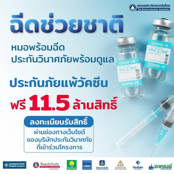 ฟรี ประกันแพ้วัคซีนโควิด