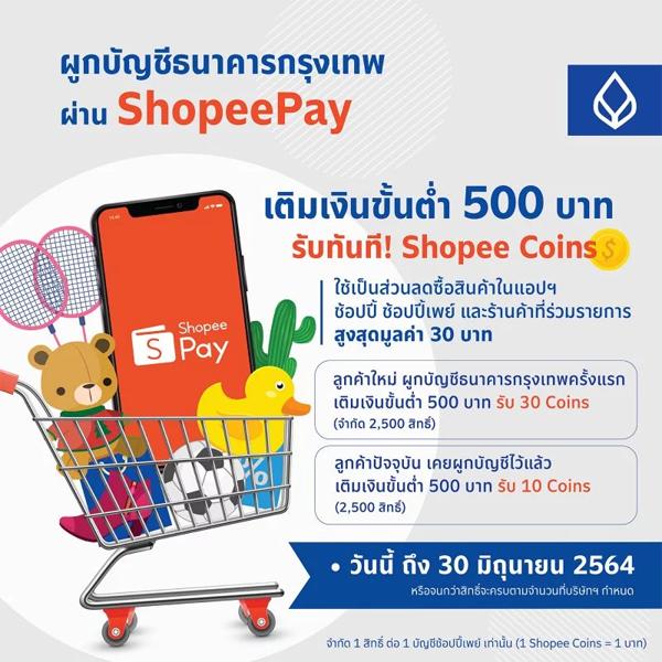 ผูกบัญชี ShopeePay