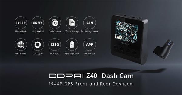 กล้องติดรถยนต์ DDPAI Z40