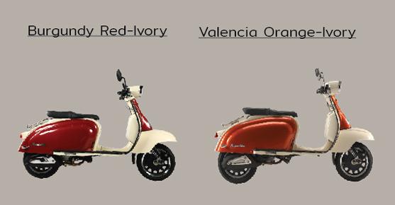 Royal Alloy TG150 ABS สีแดง, สีส้ม